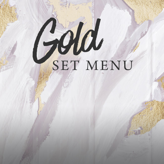 Gold set menu at The Boot Inn