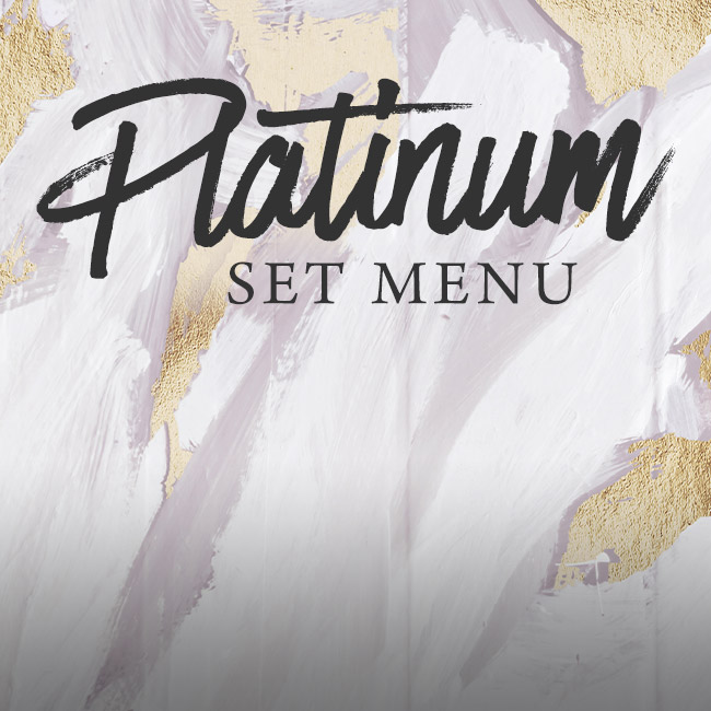 Platinum set menu at The Boot Inn